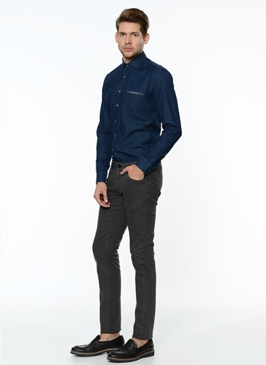 George Hogg Slim Fit Pantolon Antrasit